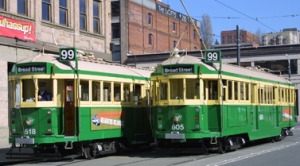 photo of the waterfront streetcars