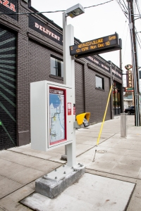 RapidRide C and D line arrival signs are more accurate these days.