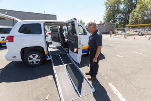 Metro Access minivan ramp deployed